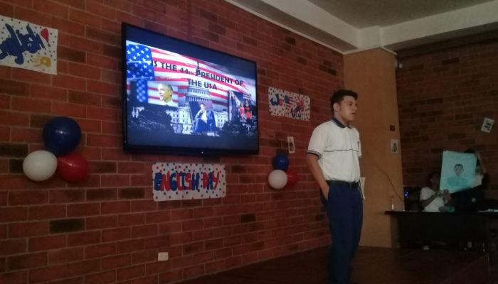 Presentación política y social de países de habla inglesa.por estudiantes de grado Octavo
