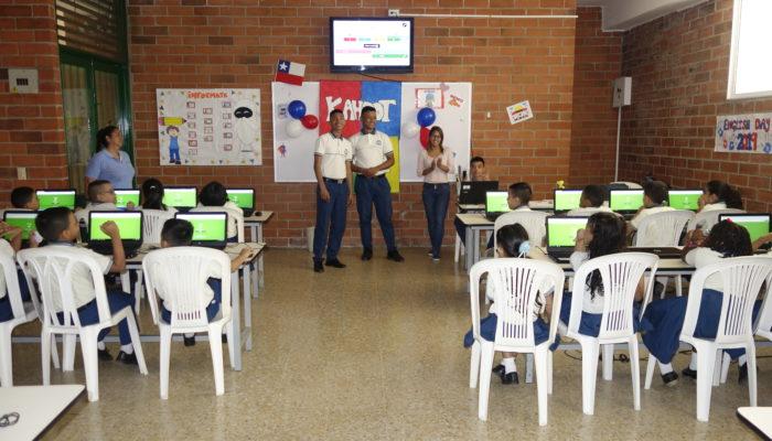 Juego Kahoot interactivo liderado por los estudiantes de undécimo